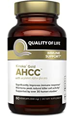 THE WORLD'S LEADING IMMUNE HEALTH SUPPLEMENT: Quality of Life's AHCC (Active Hexose Correlated Compound) supplement is a proprietary blend of mushrooms designed to significantly improve immune response, maintain optimal T-cell and natural killer cell...