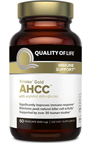 Quality of Life, Kinoko Gold AHCC, Immune Support, 500mg, 60 Veg. Kapseln