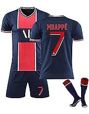 MBAPPE # 7 Soccer Jersey set, fransk professionell fotbollsspelare enhetlig kostym för män och barn, andningsbara t-shirts och shorts - med strumpor fans present