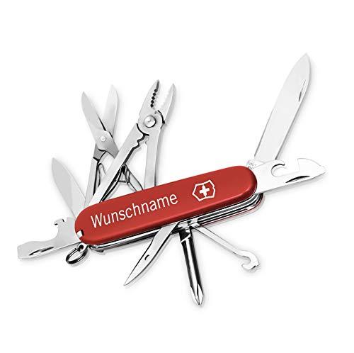 Victorinox Deluxe Tinker Taschenmesser mit Gravur I Geschenk für Männer I Geschenke zum Geburtstag I Messer mit Gravur