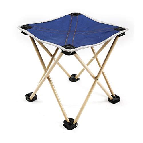 CHQYY Stuhl - Reisen Wandern Hocker-Faltbare Platzsparender Stuhl Geeignet für drinnen und draußen (Farbe : Blue)
