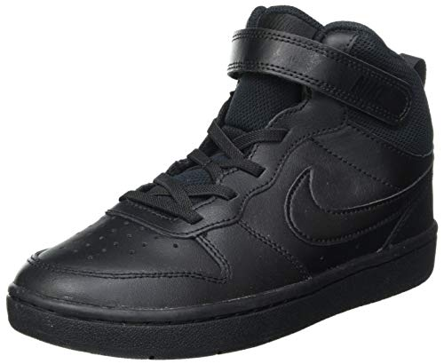 Nike Court Borough Mid 2 (PSV), Scarpe da Basket, Nero, 35 EU