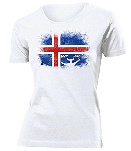 Island Iceland Fanshirt Fussball Fußball Trikot Look Jersey Damen Frauen t Shirt Tshirt t-Shirt Fan Fanartikel Outfit Bekleidung Oberteil Hemd Artikel