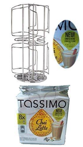 Bosch Tassimo Kapselhalter für 48 Stück T-Discs neu für 6 Sorten statt 3 Sorten Kapselspender Kapselständer + Twinings Chai Latte