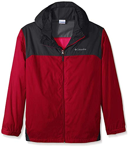 Columbia Glennaker Lake - Chaqueta impermeable para hombre, Rojo/ grafito (Mountain Red/Graphite), Medium