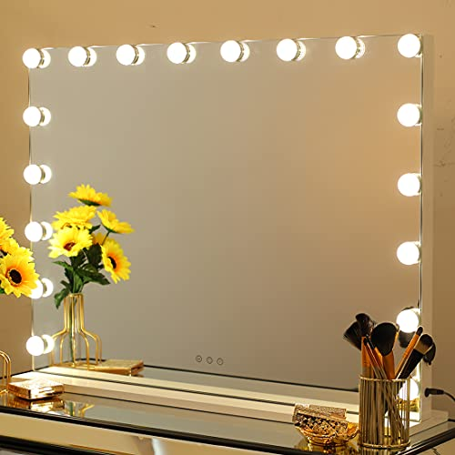 iCREAT Large Makeup Mirror with Lights