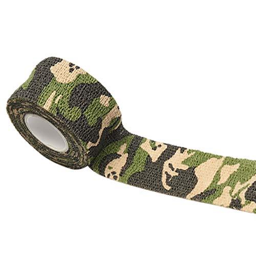 Yiwann Bande de kinésiologie auto-adhésive pour camouflage extensible 4,5 m 2