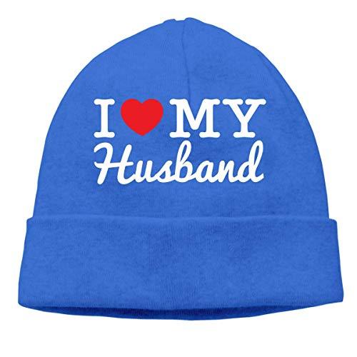 XCNGG Gorro de Punto Gorro de Lana Unisex I Love My Husband Knitting Hat, Stretch Skiing Cap