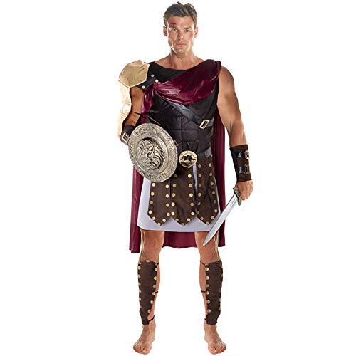 Morph Disfraz Soldado de Gladiador Romano del Color Marrón para Hombres - X-Grande