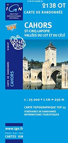 Cahors/Saint-Cirq-Lapopie/Vallee du Lot et du Cele GPS: IGN.2138OT