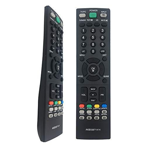 El Nuevo Control Remoto para TV AKB33871414 es Apto para LG TV M228WD M197WD M227WD-L M227WDJ 19LG3000-ZA FLATRON FLATRON