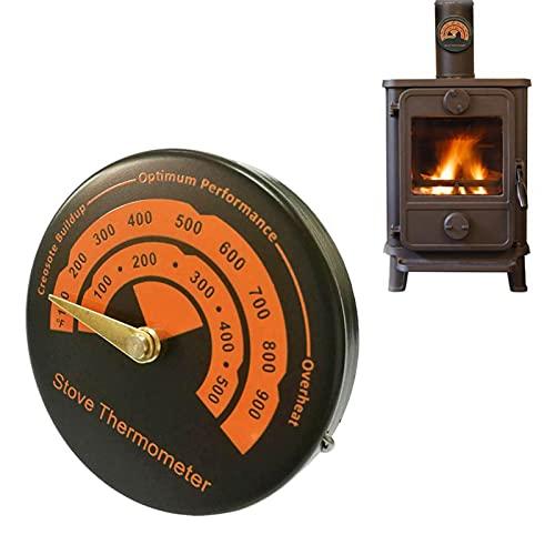 Zhihui Termómetro magnético para estufa, tubo de estufa, termómetro para horno, horno para ahumar y barbacoa