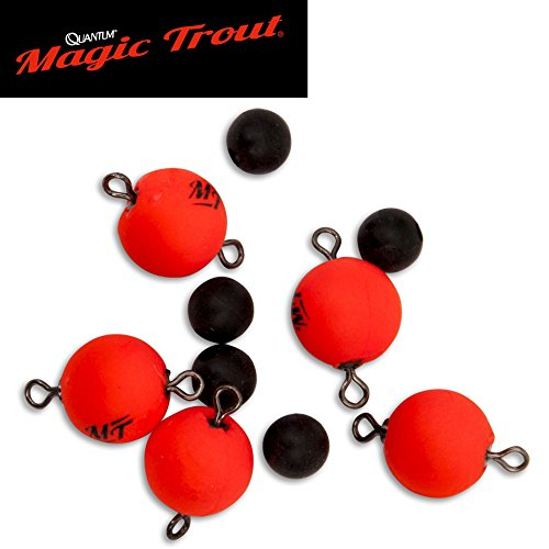 Quantum Magic Trout Float Connector Swivel 10 rot 5Stück Ø10mm