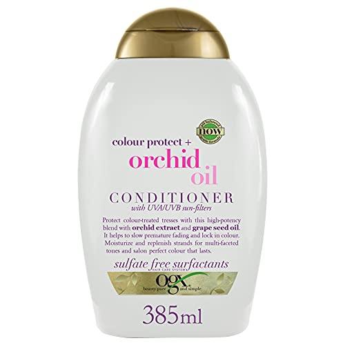 OGX, Acondicionador Aceite de Orquídea, Cabellos Teñidos, 385 ml