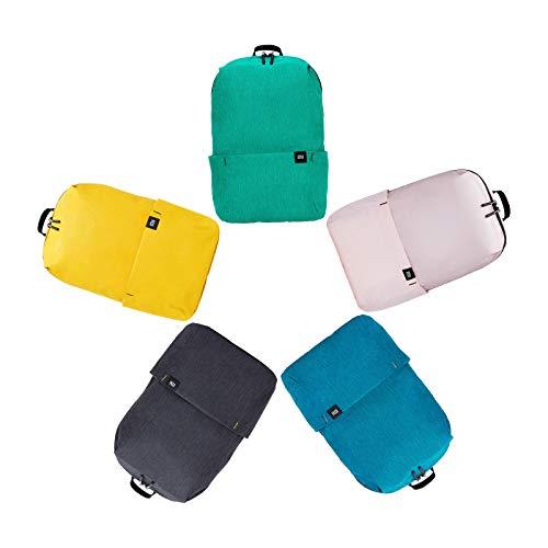 Xiaomi Mi Casual Daypack 5 confezioni zaino impermeabile unisex 5 colori (giallo + verde + rosa + blu + nero)