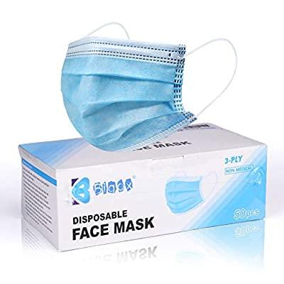 Bigox Face Mask Disposable Earloop Blue 50Pcs from bigox