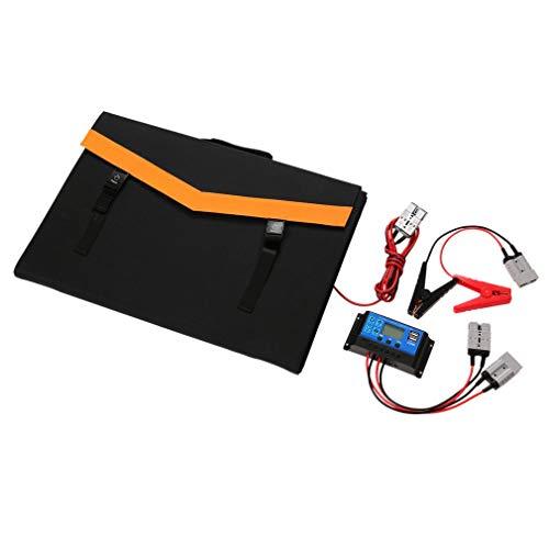 200W 18V Foldable Solar Panel Kit, Portable Flexible Folding Monocrystalline Solar Panel with Solar Controller USB Output and Battery Alligator Clip, for Caravan RV Boat Camper Laptop Phone (200W 18V)