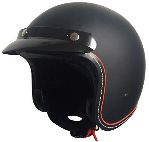 RALLOX Jethelm 181 Police matt schwarz Motorradhelm Größe M Sturzhelm Helm Rollerhelm