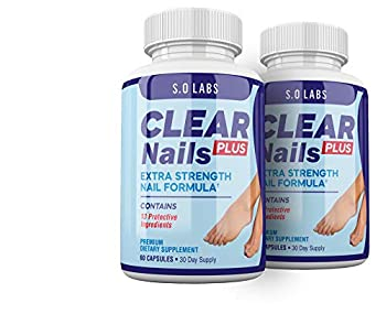 Clear Nails Plus - Antifungal Probiotic Pills - 120 Capsules - Supplement  2 Month Supply