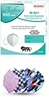 Airflow N95 Mask (5 Layer Without Filter) Washable Reusable Anti Pollution (NIOSH FDA Certified) with Meltblown and Hot...