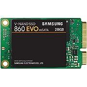 Samsung MZ-M6E250BW 860 EVO mSATA 250 GB SATA mSATA Interne SSD Schwarz