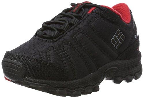 Columbia Garçon Chaussures de Randonnée, Imperméable, CHILDRENS FIRECAMP SLEDDER II WP, Taille 29, Noir (Black, Steam)