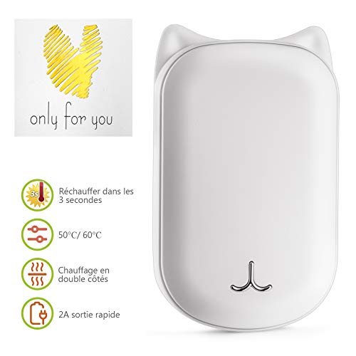 CENXINY Chauffe-Mains Rechargeable, 6000mAh Hand...