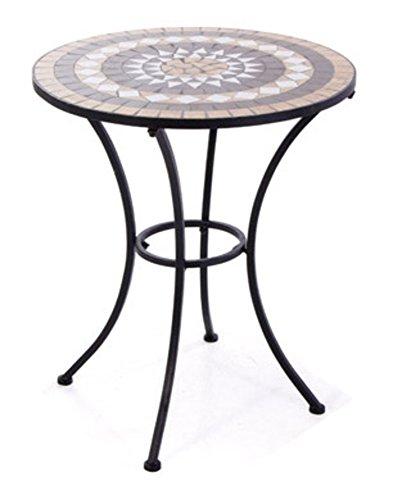 VERDELOOK Tavolo Set Mosaico in Metallo Verniciato, 60x60 cm Altezza 73 cm, per l'arredo del Giardino
