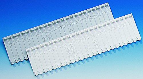 10 Stück Abdeckstreifen für Verteiler für 12 Modulplätze weiß für Verteiler von F-Tronic, Hager, Geier, usw