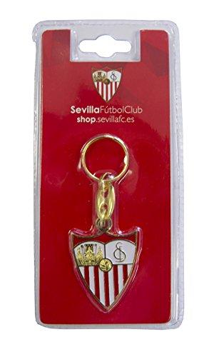 SFC SEVILLA FUTBOL CLUB Llasev Llavero, Blanco/Rojo, Talla...