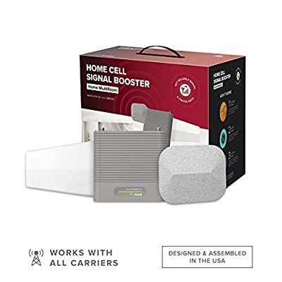 weBoost Home MultiRoom (470144) Cell Phone Signal Booster Kit | Up to 5,000 sq ft | All U.S. Carriers - Verizon, AT&T, T-Mobile, Sprint & More | FCC Approved