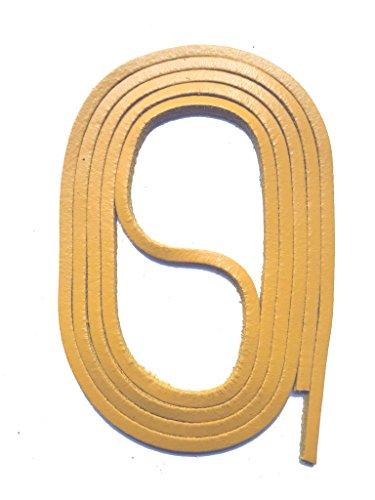 SNORS Schnürsenkel aus LEDER HELLBRAUN, 120cm, ca. 3x3mm, Docksider, Lederriemen, echtes Rindsleder, Ledersenkel Made in Germany