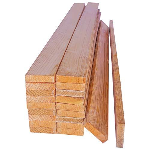 buenos comparativa Listones de pino.  20 tablas macizas de 1 metro de largo sin tratar.  Por supuesto.  detrás… y opiniones de 2021