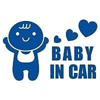 imoninn BABY in car ステッカー 【パッケージ版】 No.10 赤ちゃん (青色)
