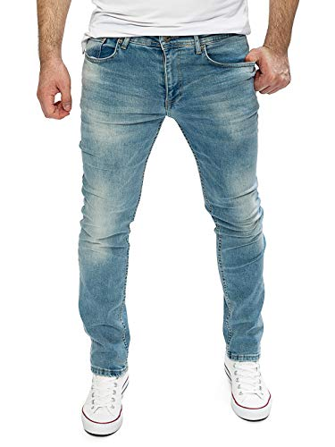 WOTEGA Jeans Herren Alistar Slim fit - Stretch Jeanshose - Blaue Hose für Männer, Blau (Flint Stone 183916), W34/L32