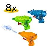 8x Mini Spritzpistole für Kinder im Set | Premium Qualität | hochwertig verarbeitet | Spielspaß...