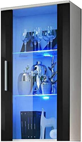 Anzeigeschrank (HXWXD): 110 x 60 x 29 cm mit 2 Glasregalen,Black