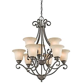 Kichler 43226OZ Camerena Large Chandelier Lighting Olde Bronze 9-Light  30  W x 35  H  900 Watts