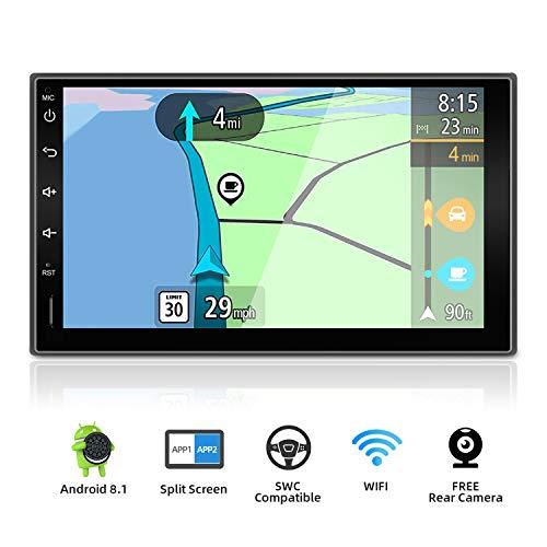 YUNTX Android 9.0 Doppio Din Autoradio - GPS 2 Din - Telecamera Posteriore Gratuiti - 7 Pollice - Supporto DAB + / Controllo del volante / 4G / WiFi/Bluetooth/Mirrorlink/Carplay/USB/SD