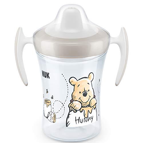 NUK Trainer Cup Trinklernbecher | auslaufsicherer Becher mit weichem Trinkschnabel & ergonomischen Griffen | 6+Monate | BPA-frei | 230ml | Disney Winnie Puuh