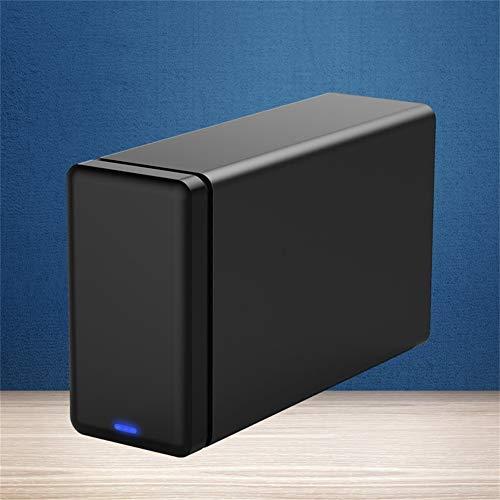 ZHSHOP Enclosures External,2 Bracket External Hard Drive Type-C 3.5'External Docking Box USB HDD Storage With RAID Support 20Tb Storage Usb3.1 5Gbps Uasp Hdd Chassis External Hard Dive