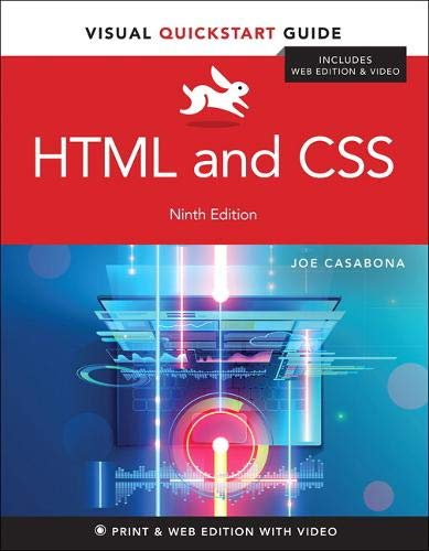 HTML and CSS: Visual QuickStart Guide (9th Edition)