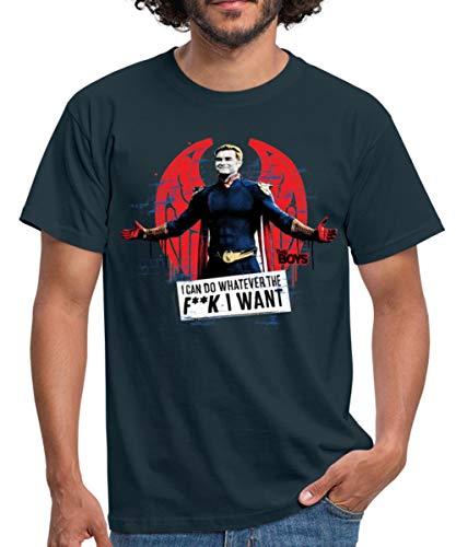 The Boys Homelander Ich Kann Machen was Ich Will Männer T-Shirt, 4XL, Navy