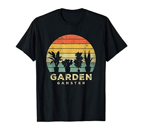 Garden Gangster Funny Gardening Retro Vintage Gardener Gift Maglietta