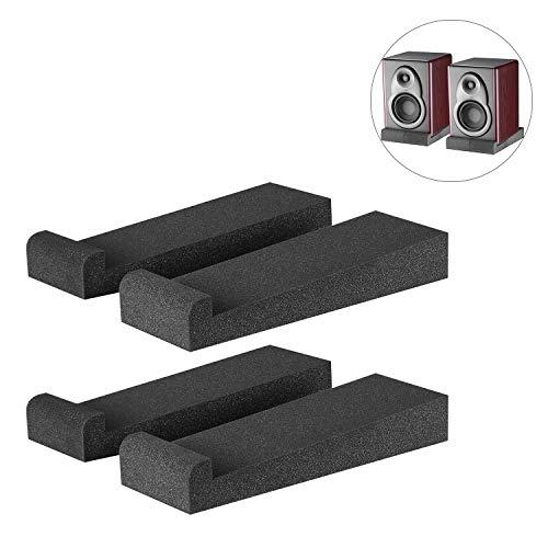 "Neewer®4 Stück Studio-Monitor Akustik Isolierung Kissen Dämpfung Rückzug Stabilisator Lautsprecher Podeste, 12 \""x 3.9\"" x 1.8 \""/30.5 x 10 x 4,5 cm, schwarz"