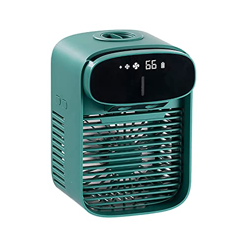 OUMSHBI Mini Klimaanlage, 3 in 1 Mobile USB Luftkühler Verdunstungs Luftbefeuchter Luftreiniger Desktop Lüfter