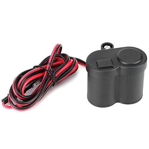 Yctze Cuque - Encendedor de cigarrillos impermeable para motocicleta, 12V 1.5A, Toma de carga USB, Motocicleta, Scooter, Bicicleta, Manillar, Fuente de alimentación, Cargador, Cargador USB para teléfo
