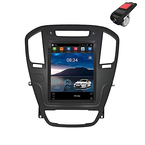 9 'Android 10.0 Para Opel Insignia Buick Regal 2009-2013 Reproductor De Video Multimedia Para Automóvil Navegación GPS Radio, Control Del Volante, AM,IPS 2.5d Pant(Size:Ocho núcleos,Color:WiFi 1G+16G)