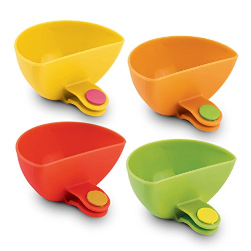 Dip It! Condiment & Sauce Dipping Bowls with Plate Clips àSet of 4 by DIP-IT