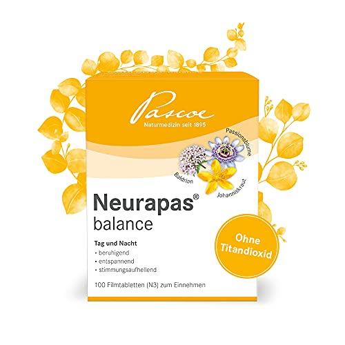 Pascoe® Neurapas balance: mit Johanniskraut, Passionsblume & Baldrian - stimmungsaufhellend, entspannend & beruhigend - bei leichten depressiven Verstimmungen - rein pflanzliche Wirkstoffe (100 Tabletten)